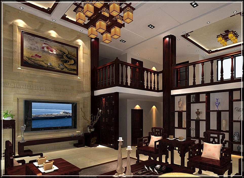Decorative classic house design with minimalist interior for House decoration inside