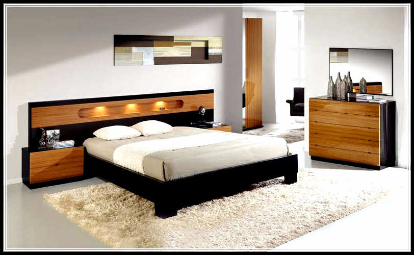 Space saving bedroom furniture design for bigger look Bedroom furniture layout plan