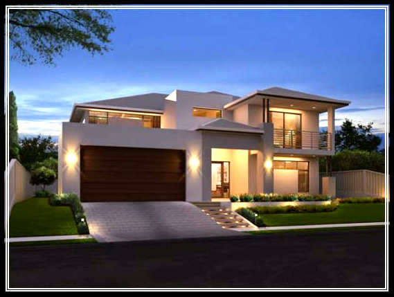 Find the best modern small home exterior design in urban for House design in small area