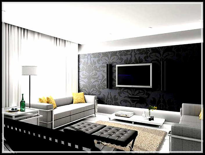 Cool modern living room design with clean lines home for Cool modern living rooms