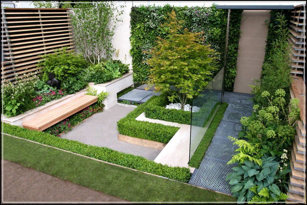 Fascinating small garden design home design ideas plans for Small home garden plans