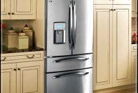 cabinets around fridge