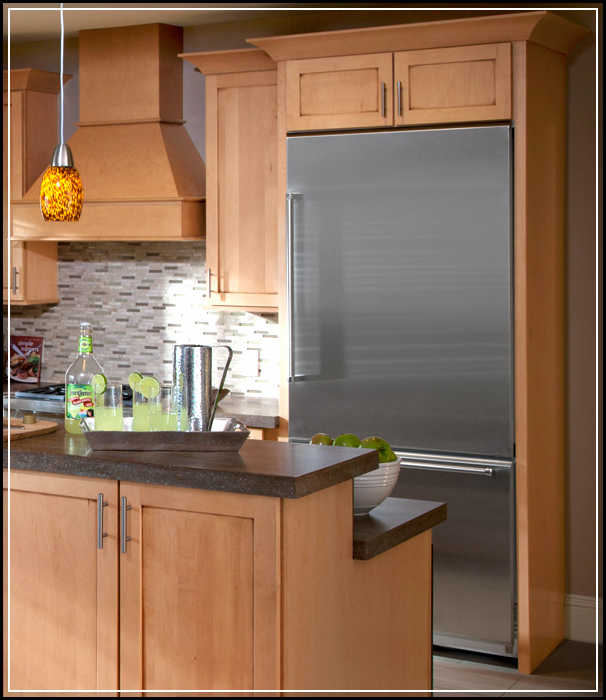built in refrigerator cabinets