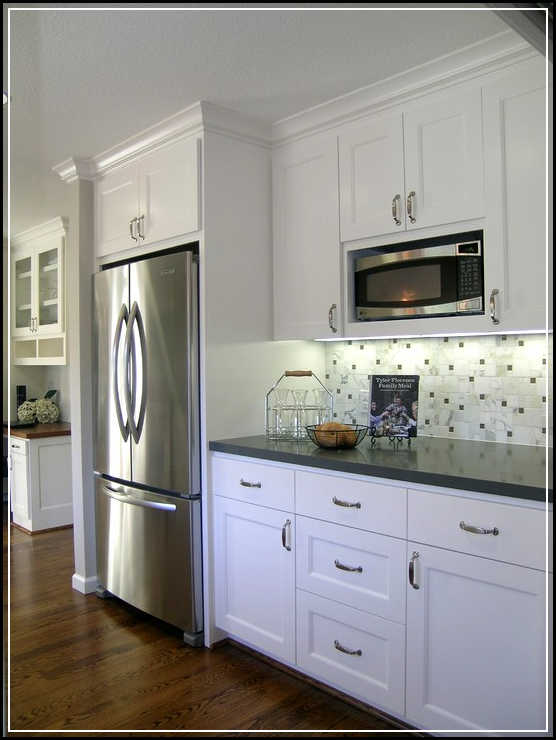 The top 5 regular counter cabinet depth refrigerator to for Kitchen remodel refrigerator
