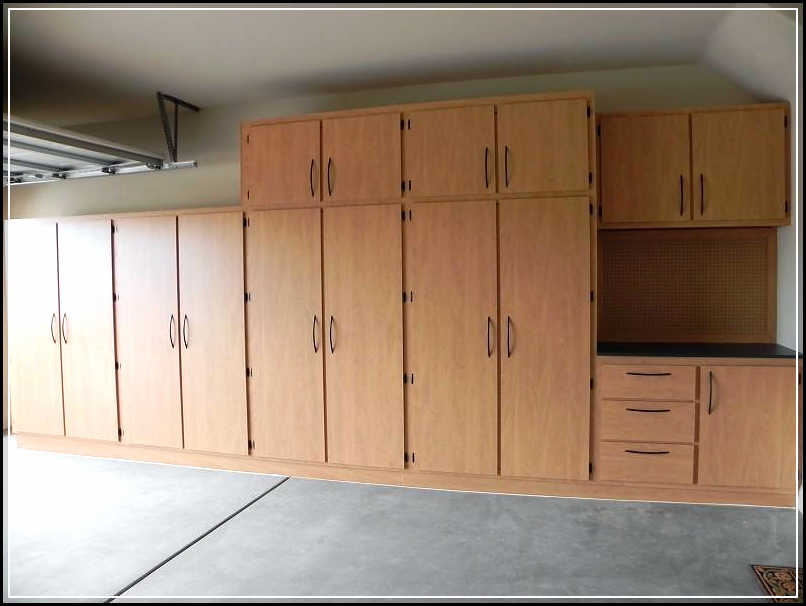 Creating diy space saving garage cabinet plans home Cabinets plans