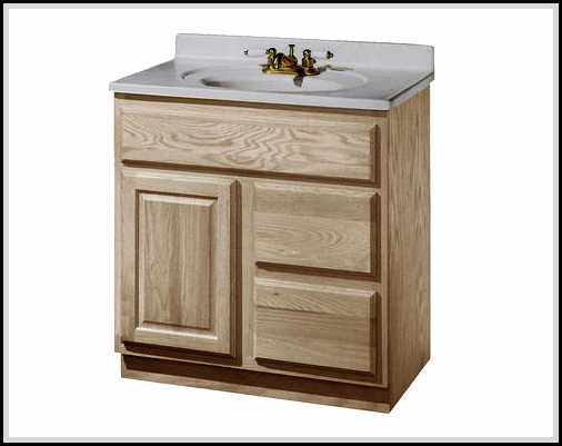 unfinished wood bathroom vanity