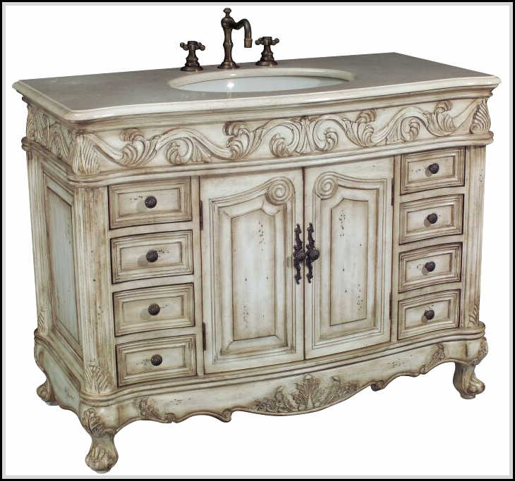 Antique bathroom vanities highly hand crafted and carved home design ideas plans for Bathroom vanities vintage style