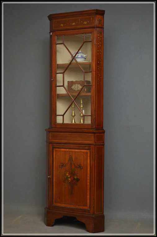 You can look at how antique corner cabinet can complement your corner ...