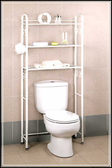 bathroom space saver over toilet