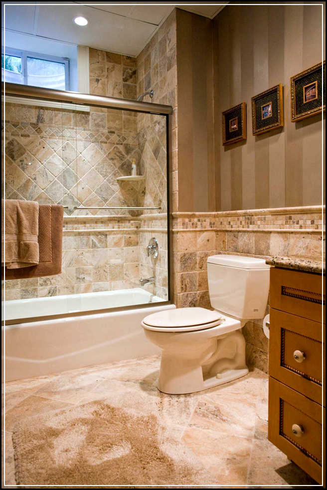 Get more inspirations from bathroom tile gallery home for Cheap bathroom tile ideas