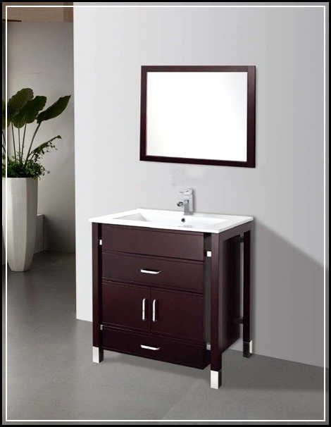24 amazing bathroom vanities with tops for cheap for Inexpensive bathroom vanity ideas