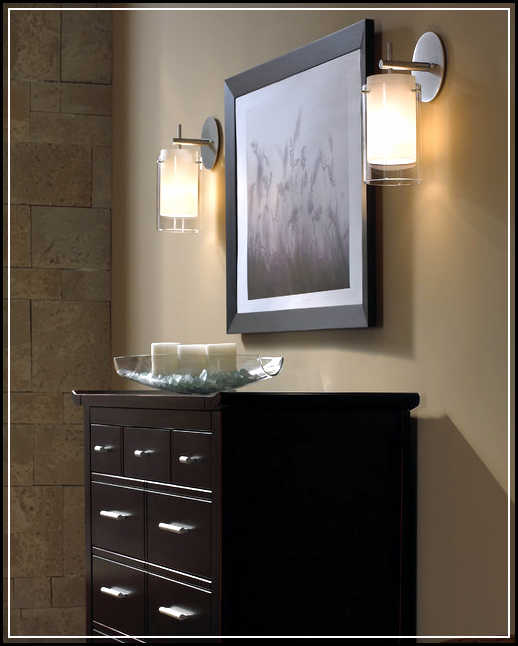 Bathroom wall sconces decorate and enhance bathroom wall interior home design ideas plans Bathroom sconce lighting ideas