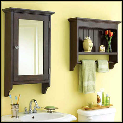 Beautiful DIY Bathroom Wall Shelf from Wood and Metal or Bronze ...
