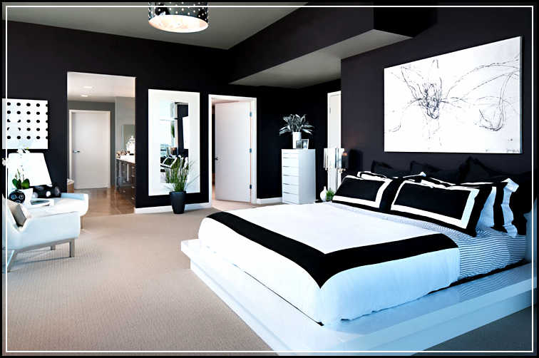 black white and gold bedroom ideas. Dramatic and Exotic Black And White Bedroom Ideas   Home Design