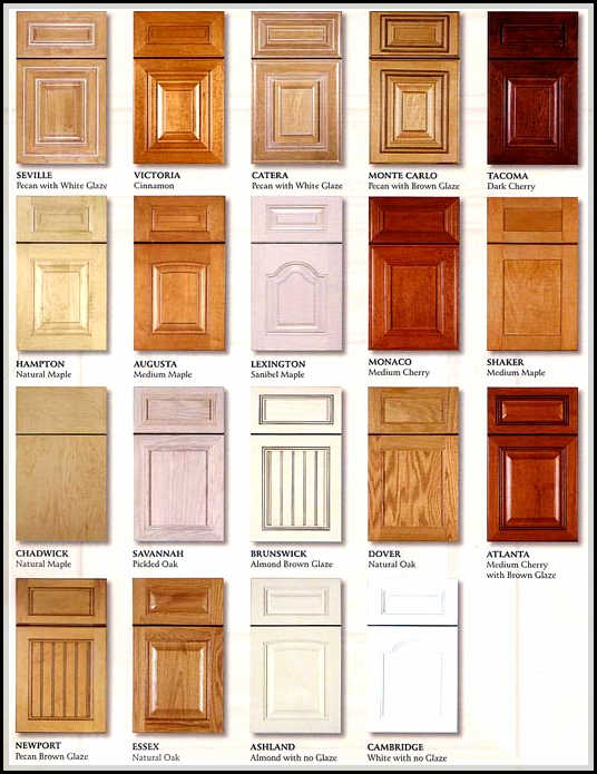 Kitchen cabinet door styles and shapes to select home for Back door styles