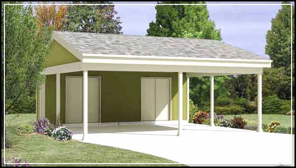 Attached carports designs example for Attached carport plans free