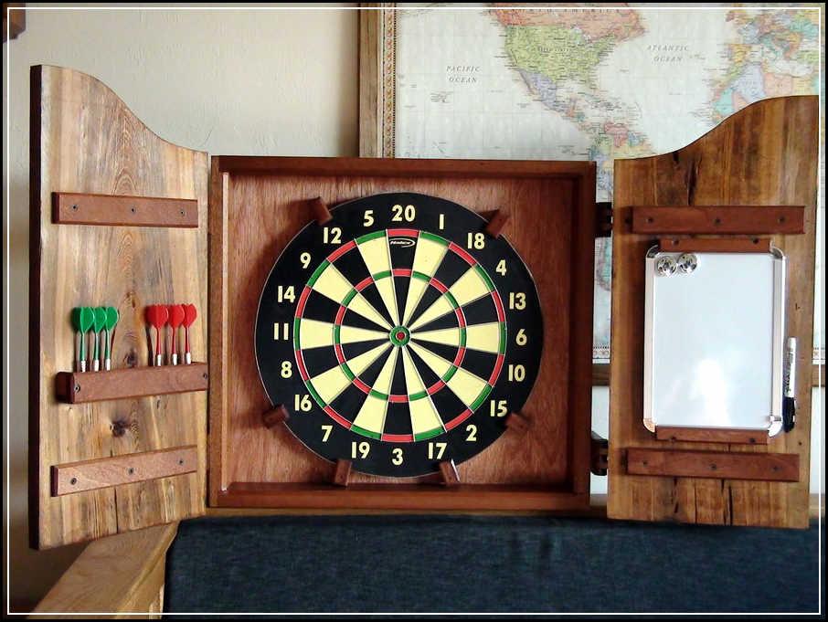 dartboard cabinet plans free