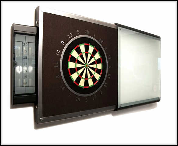 how to build a dart board backboard