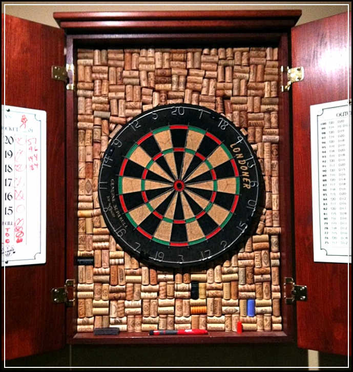 dartboard cabinet custom