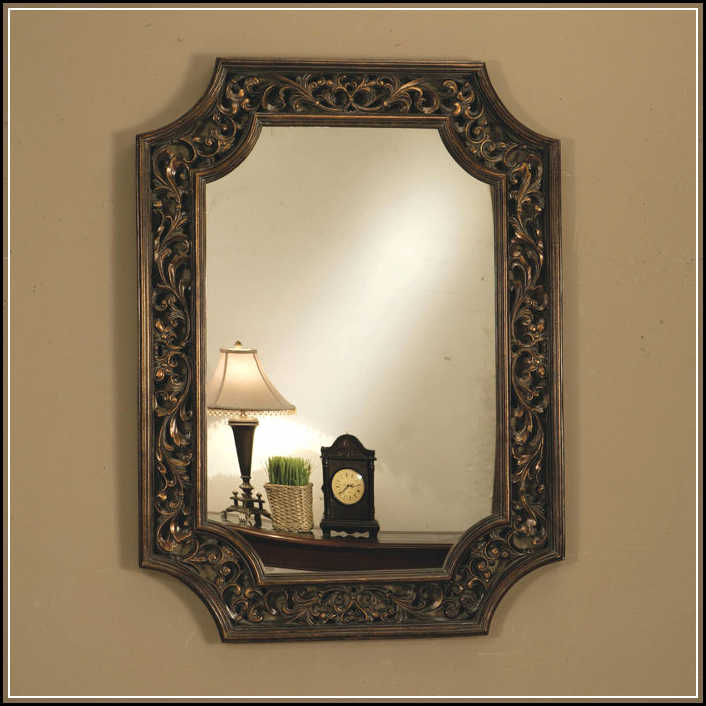Magnificent shapes of decorative bathroom mirrors for for Fancy mirror