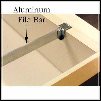 filing cabinet rails