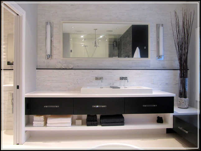 Reasons why you should install floating bathroom vanity for Bathroom vanity plans