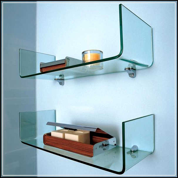 The right spots to mount the gorgeous glass bathroom for Bathroom shelves design