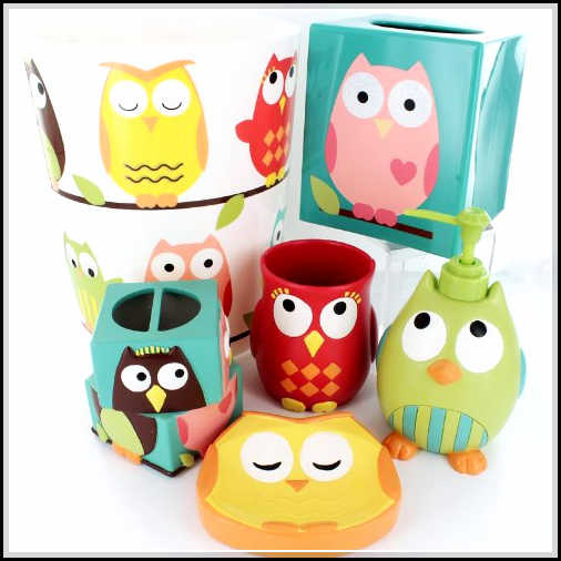 Cute and cool kids bathroom accessories for girls 39 and for Cute bath accessories