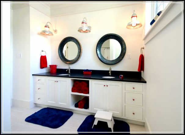 nautical shower curtains. Cool Nautical Bathroom Decor Inspirations for More Attractive Look