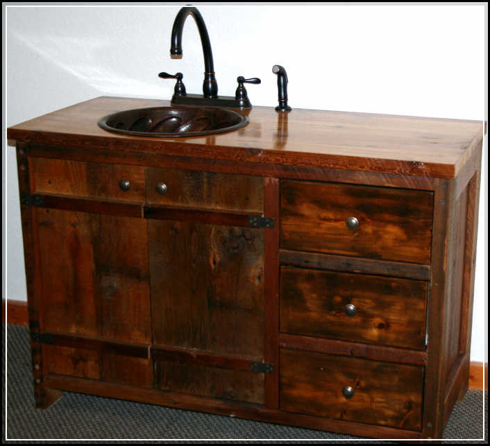small rustic bathroom vanity