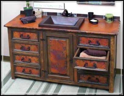 rustic wood bathroom vanity