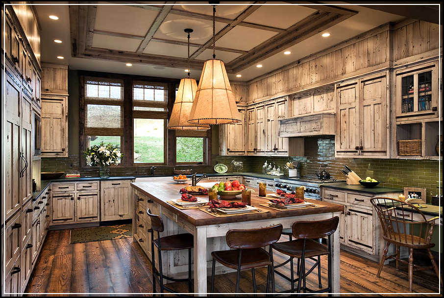 Building strong and safe cabinets with right rustic Rustic kitchen designs