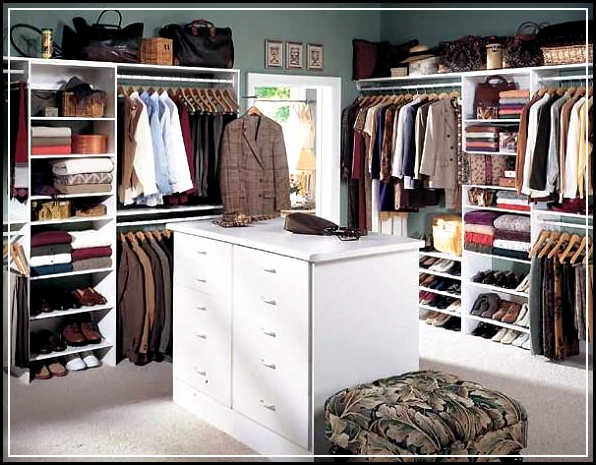 Easy tips of walk in closet organizers optimization home for Walk in closet plan