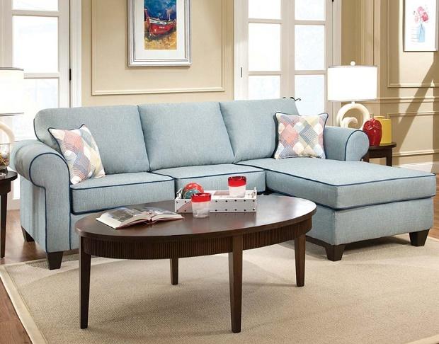 Decade Aqua Two Piece Sectional Sofa