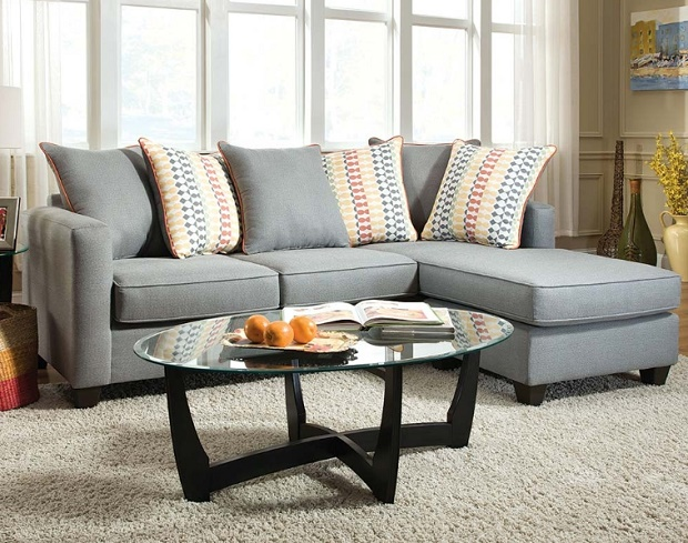Mode Gray Two Piece Sectional Sofa : two piece sectional couch - Sectionals, Sofas & Couches