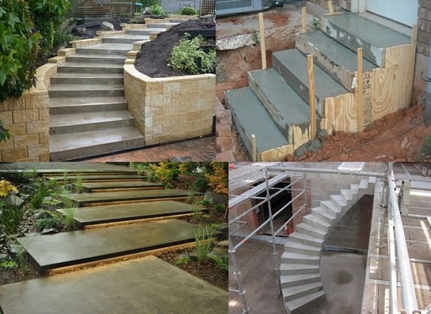 How To Build Concrete Steps Home Design Ideas Plans