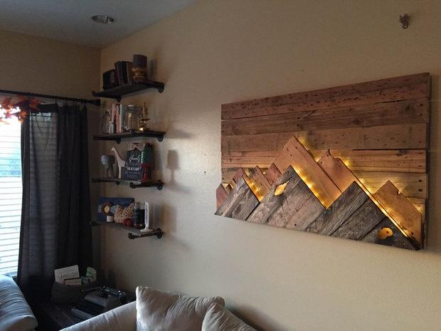 Wood Wall Art Home Design Ideas