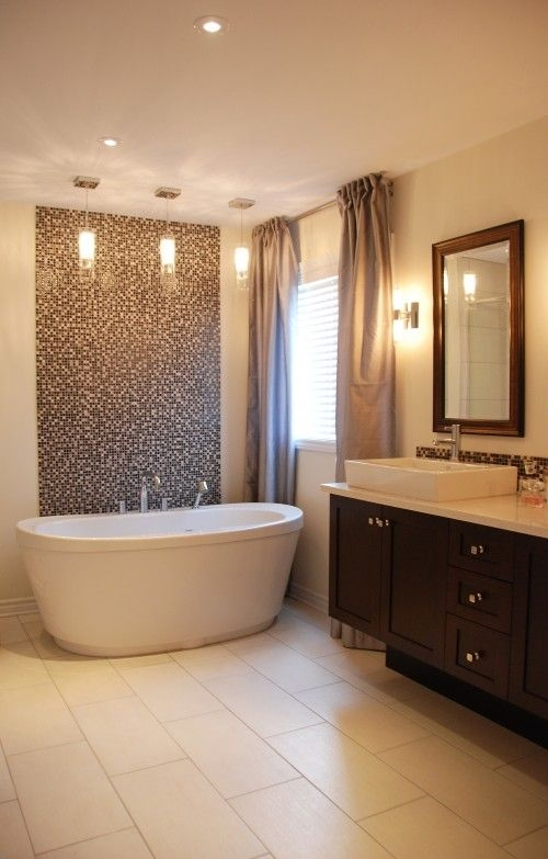 brown mosaic bathroom tiles