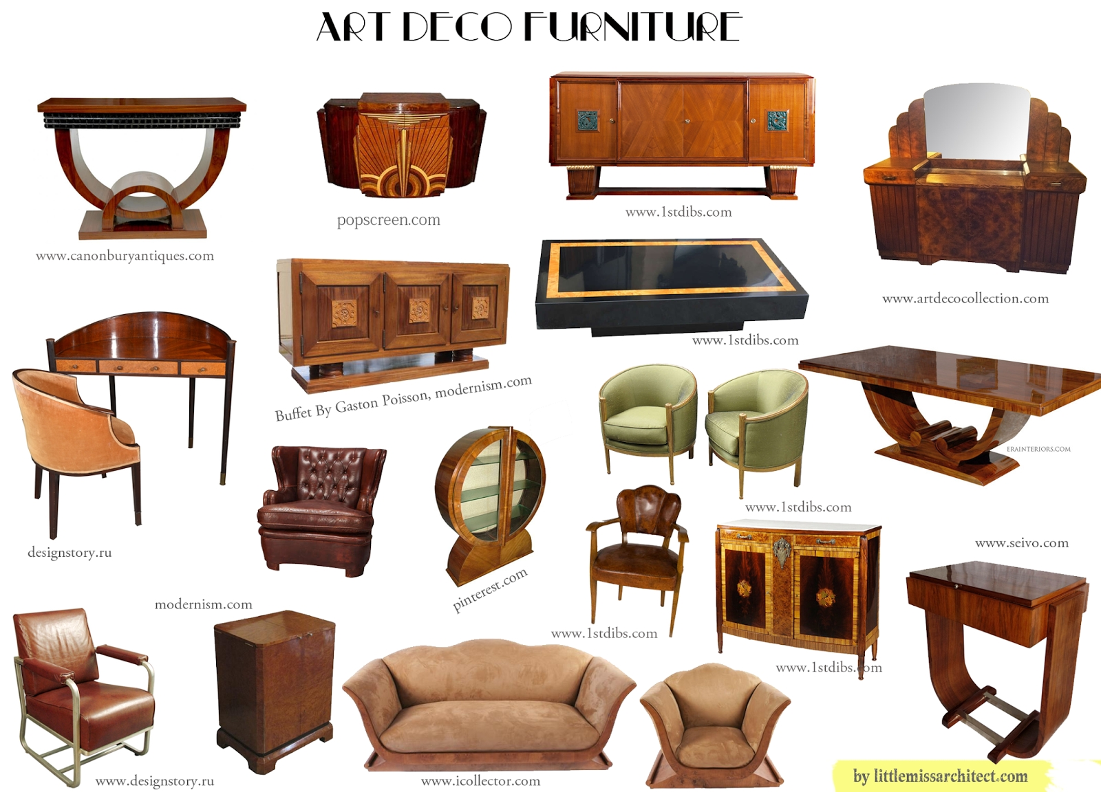 art deco furniture beautiful interiors