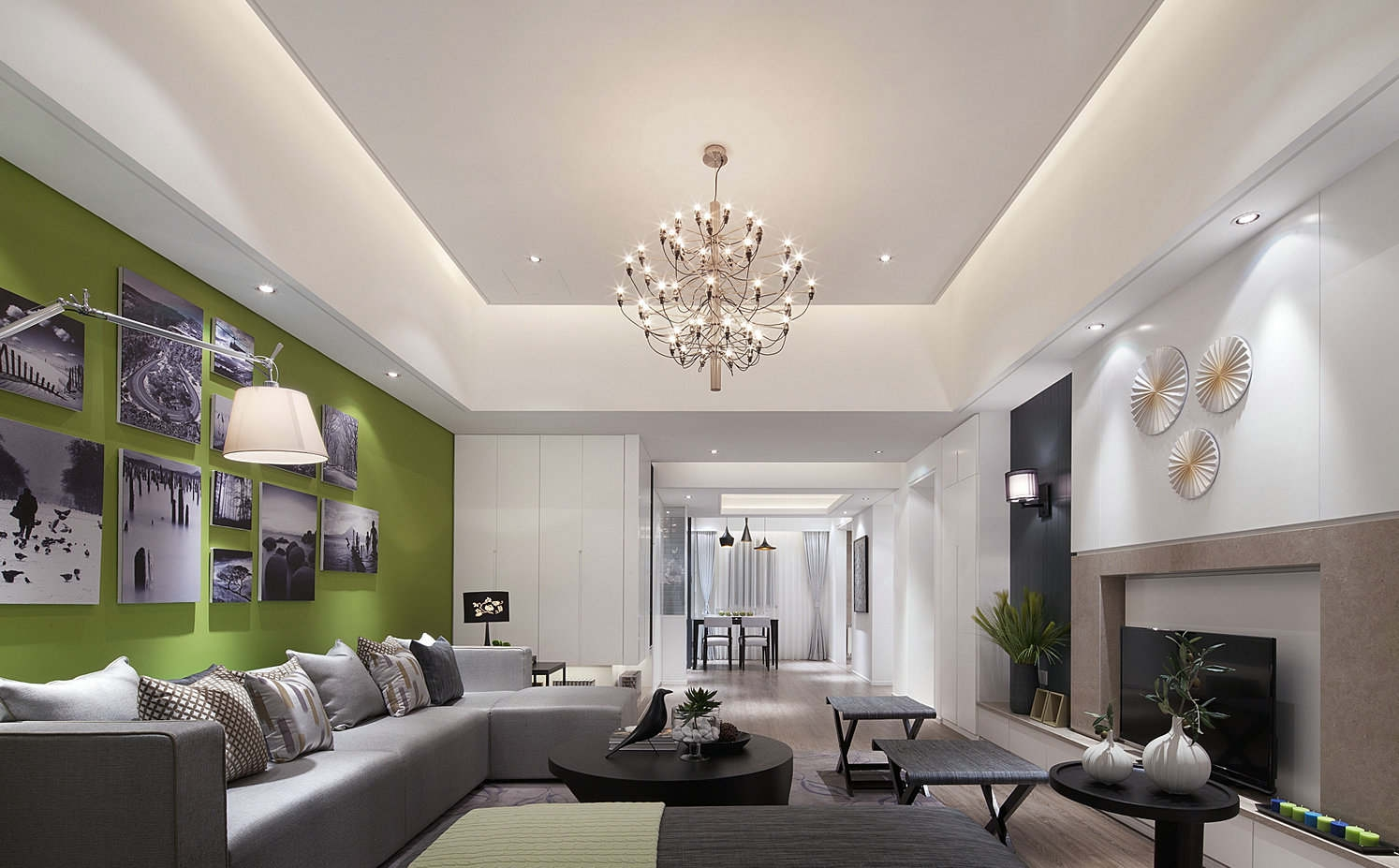 interior design for rectangular living room