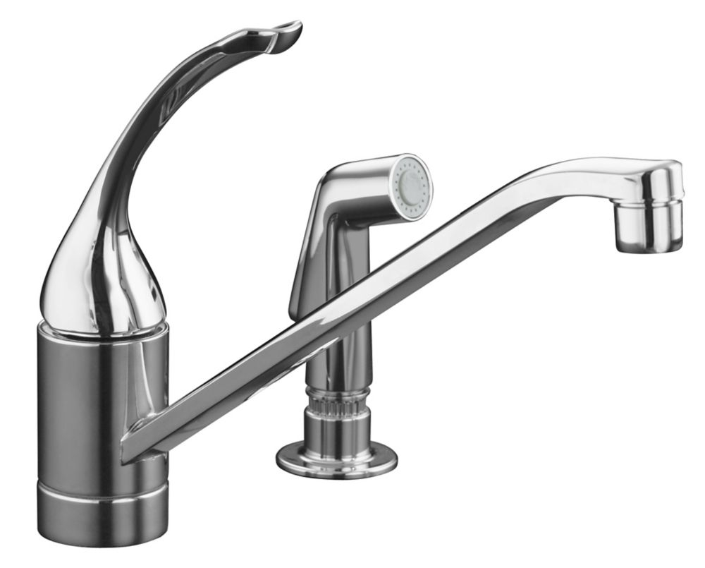 pralais single control kitchen sink faucet in polished chrome
