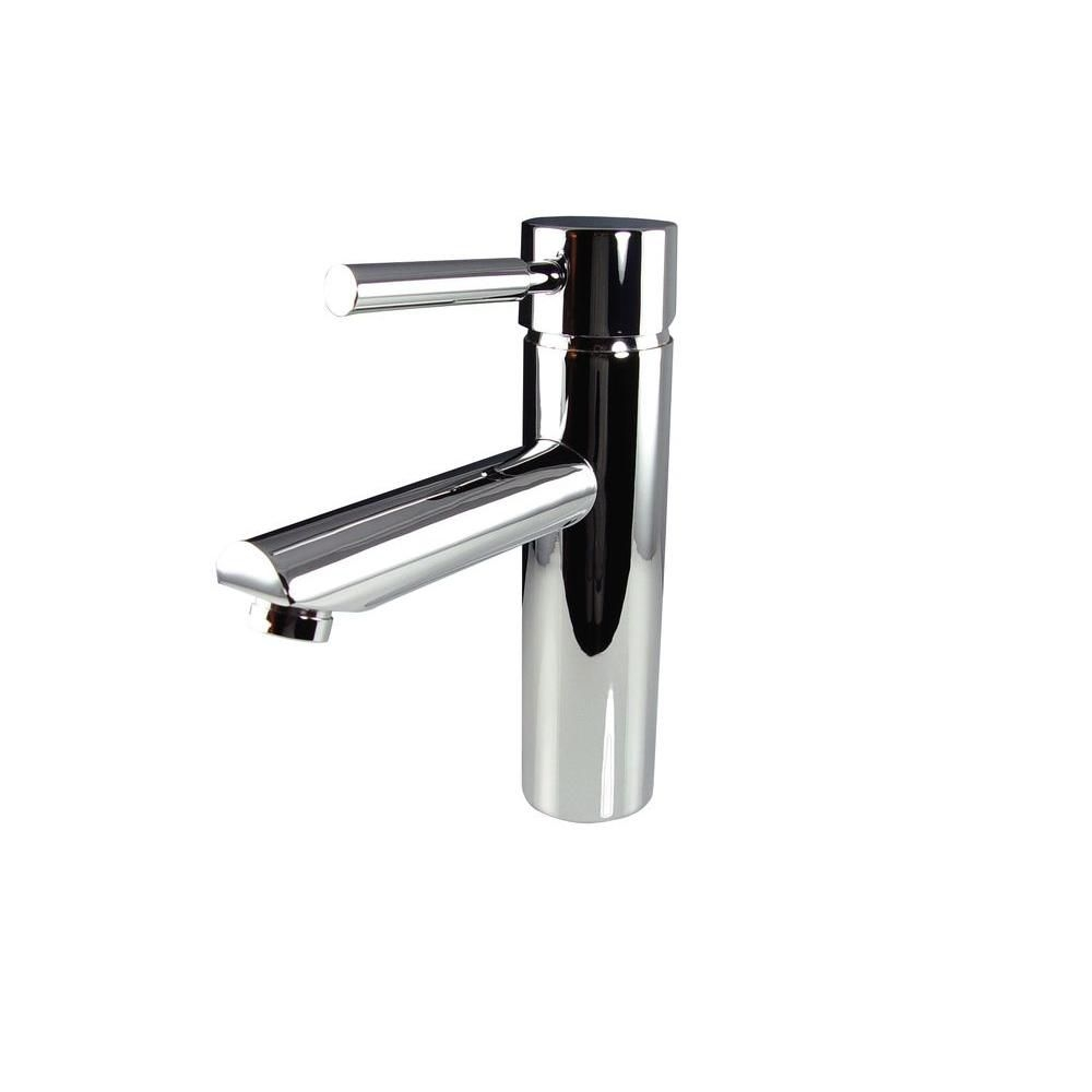 p tartaro single hole mount bathroom vanity faucet chrome