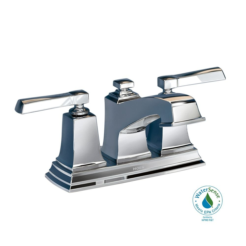 handle bathroom faucet chrome finish