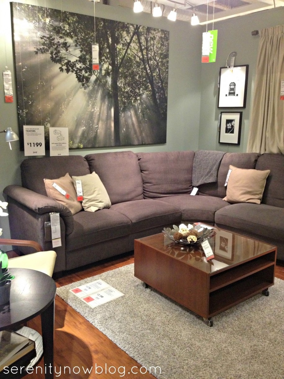 charming living room design ideas with grey sectional sofa and glass and wooden coffee table