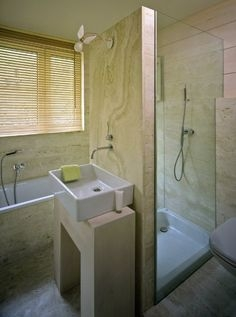 small bathroom layouts with separate tub and shower - home