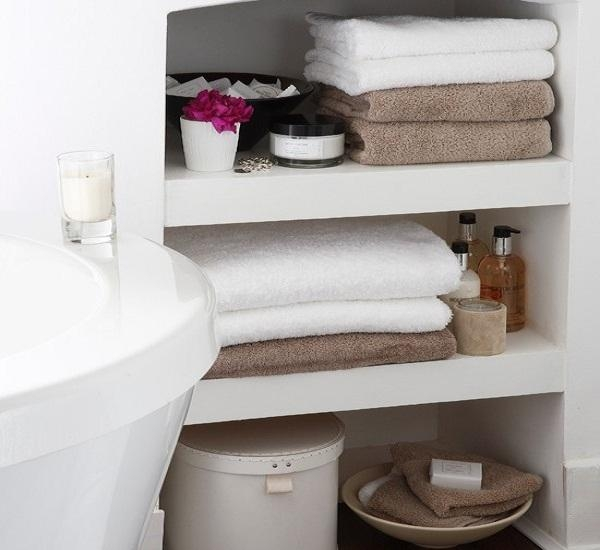 bathroom shelf decorating ideas small storage for towel