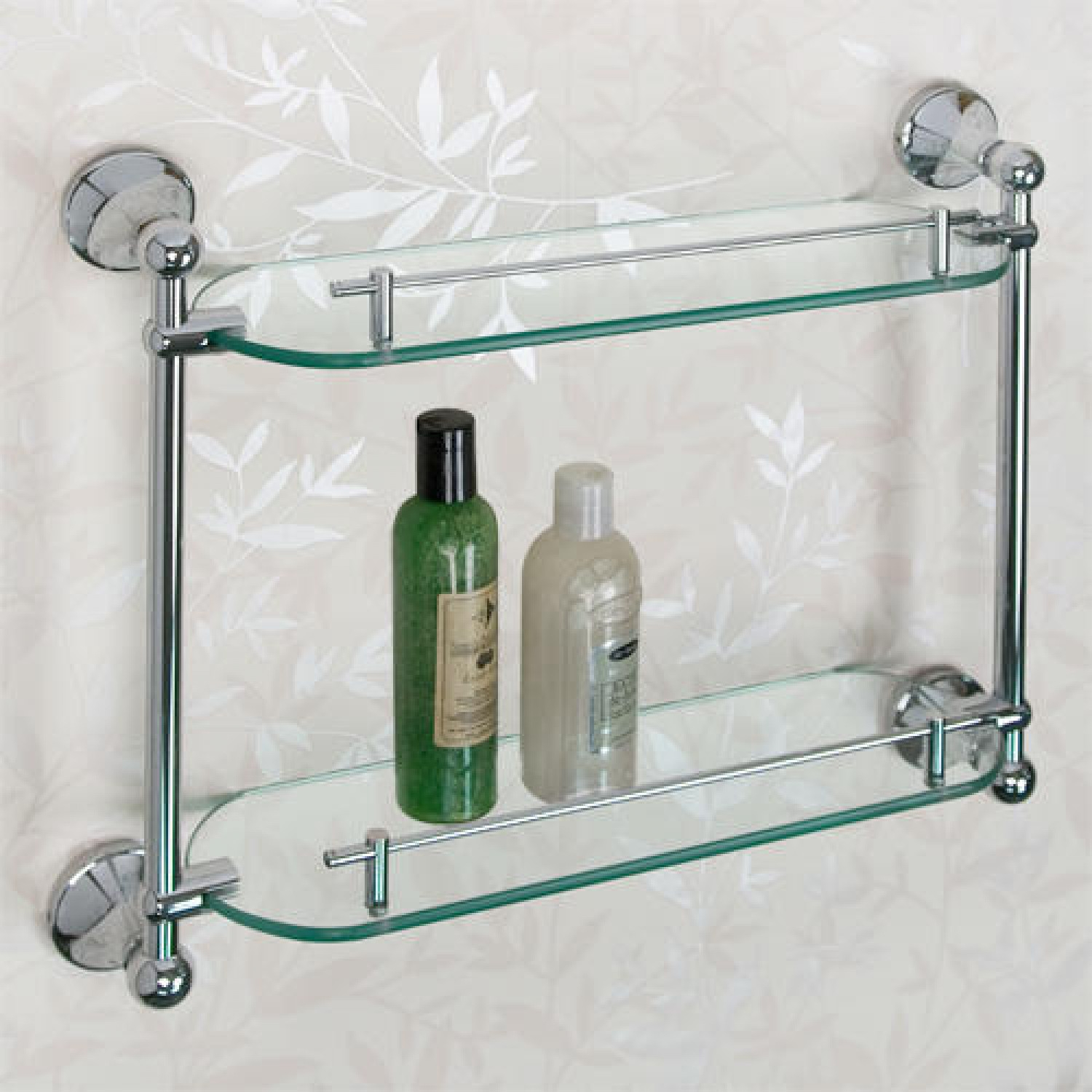 ballard tempered glass shelf two shelves
