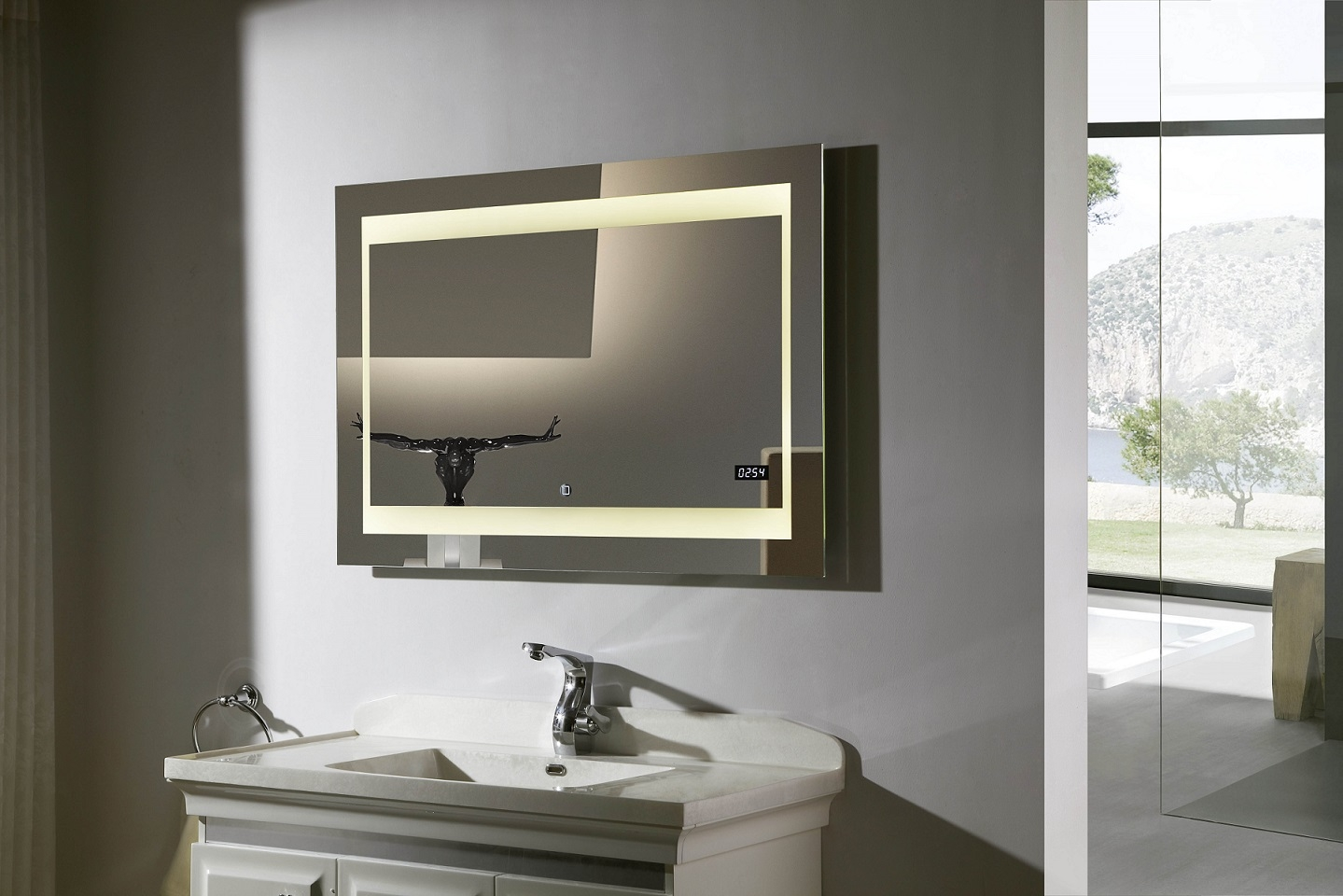 pd lighted vanity mirror led bathroom mirror zen iim