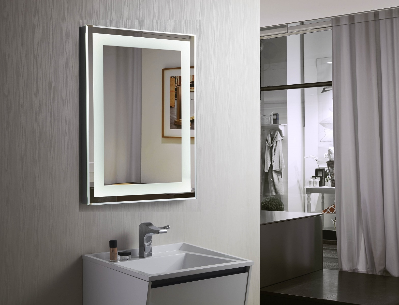 pd budapest ii lighted vanity mirror led bathroom mirrorm