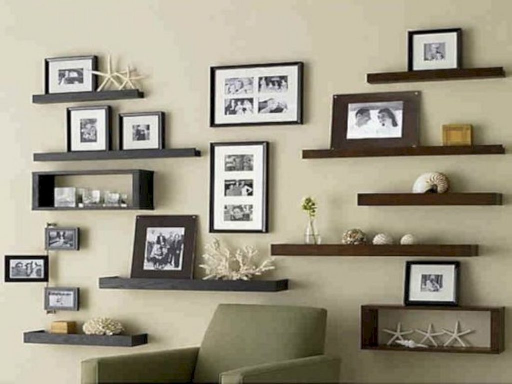 24 tips best living room decorations with beautiful bookshelves ideas